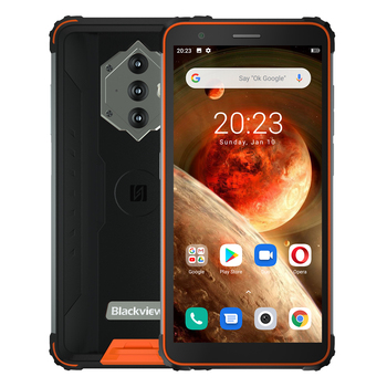 Blackview BV6600 IP68 Waterproof 8580mAh Rugged Smartphone 4GB+64GB 5.7'' Android 10.0 Octa Core 4G NFC Big Battery Mobile Phone 6