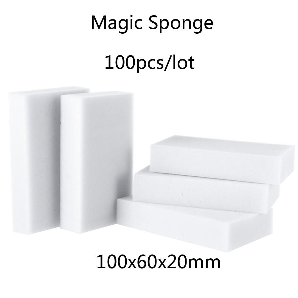 100 шт. волшебная губка, меламиновая губка, кухонная принадлежность для чистки/ванной/офиса, чистка посуды Nano оптом, 10X6X2CM