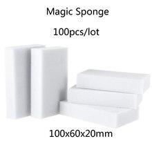 100 pçs esponja mágica borracha melamina esponja cozinha limpa acessório/banheiro/escritório prato limpeza nano atacado 10x6x2cm