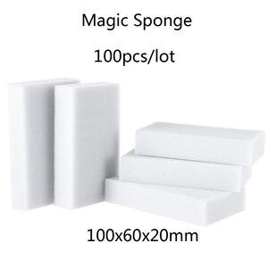 Image 1 - Esponja de melamina con Borrador de esponja mágica, accesorio limpio para cocina, baño y oficina, 100 Uds., venta al por mayor, 10x6x2cm