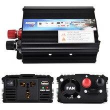 500W Auto Inverter 12v 220v 50Hz Auto Inverter 12 220 Zigarette Leichter Ladegerät Plug Power Converter inverter mit Lüfter