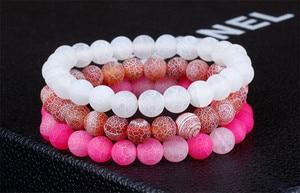 Image 4 - Moda jóias natural weathering pedra pulseiras para mulheres homens ajustável chakra pulseira de oração jóias pulseras hombre presentes