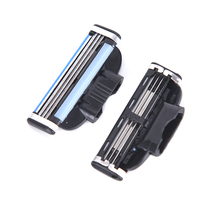 Razor-Blades Shaver Trimmer Face Standard-Beard for Manual Male 3-Layers 4PCS Useful