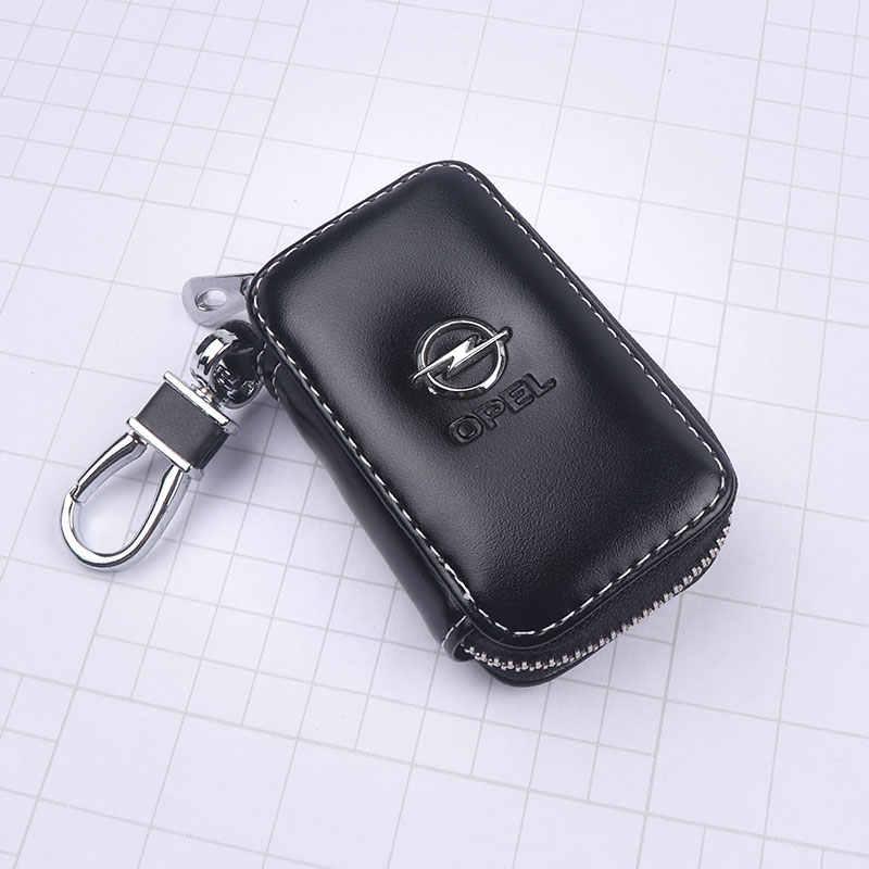 Porte-clés en cuir de style de voiture porte-clés à fermeture éclair pour Opel Astra Corsa Insignia Meriva Zafira Antara ASTRA J MOKKA