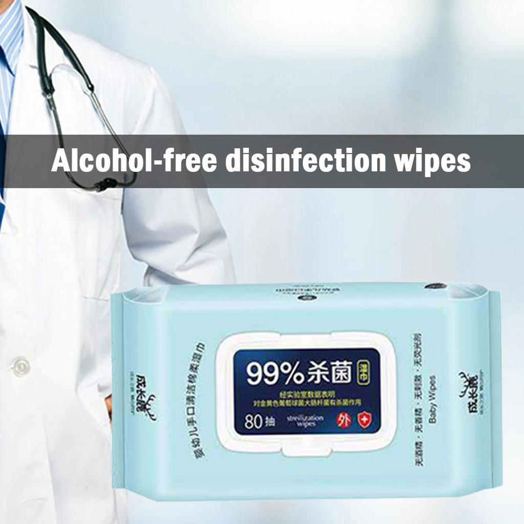 Antibacterial Wet Wipe Tissue Clean Hand Health Care 80 Wipes/pack Cleaning Supplies All-purpose Cleaner Antibacterial Wet Wipe