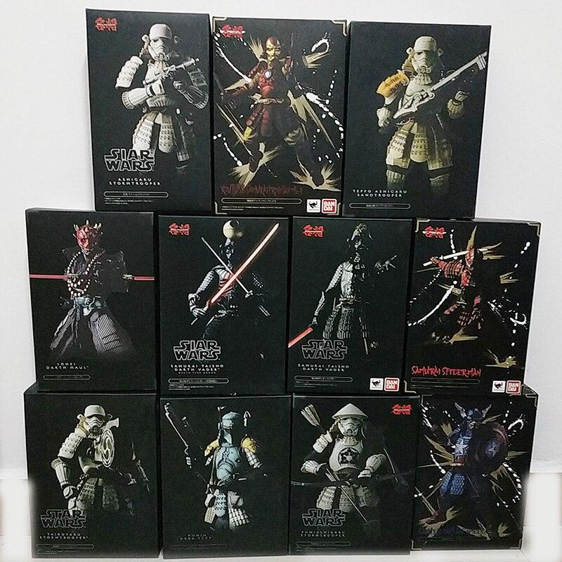 Koutetsu-Figures Vader Boba Darth Maul Star-Wars samurai Ashigaru Taisho Taikoyaku Akazonae