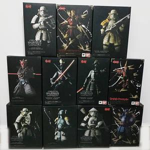 Koutetsu-Figures Vader Boba Darth Maul Samurai Star-Wars Ashigaru Taisho Taikoyaku Akazonae