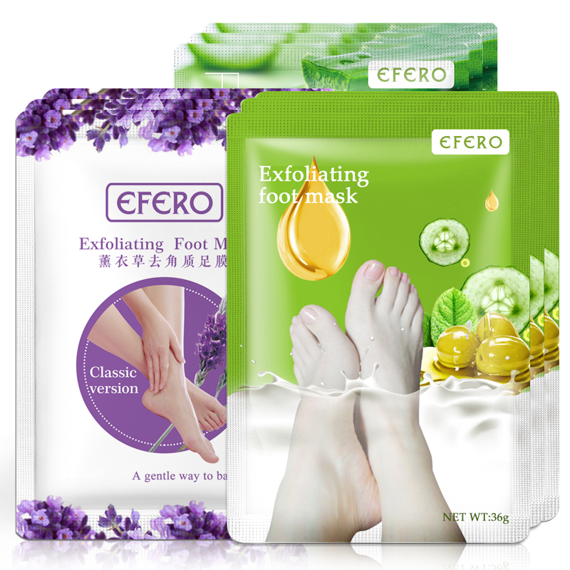 6pcs=3pair Foot Mask Exfoliating Scrub Pedicure Spa Socks Remove Dead Skin Heels Feet Peeling Mask For Legs Foot Patch Cream