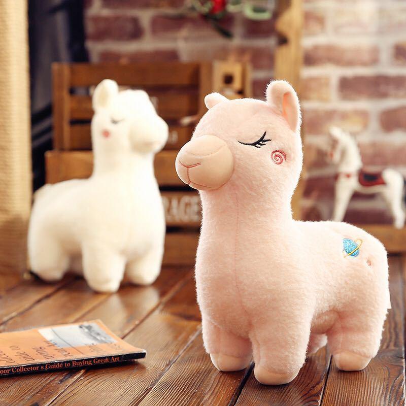 Милая плюшевая кукла-альпака 23 см из мультфильма, мягкая плюшевая игрушка-овечка из ткани, лама ямма, подарок на день рождения для ребенка