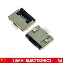 Sample,5Pin FPC FFC connector cable socket 5 pin 0.5mm connector for LCD screen interface ,ROHS,5P flex cable socket