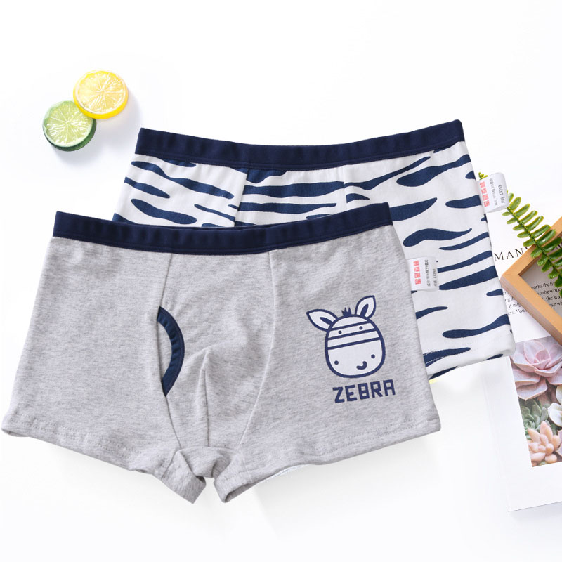 1Pc Children Underwear Boys Boxer Shorts Kids Cartoon Panties Soft Baby Teenage Underpants110-150cm 2