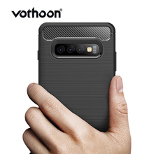 Vothoon Carbon Fiber Protective Case For Samsung Galaxy S10e S10 Plus Silicon Shockproof Cover