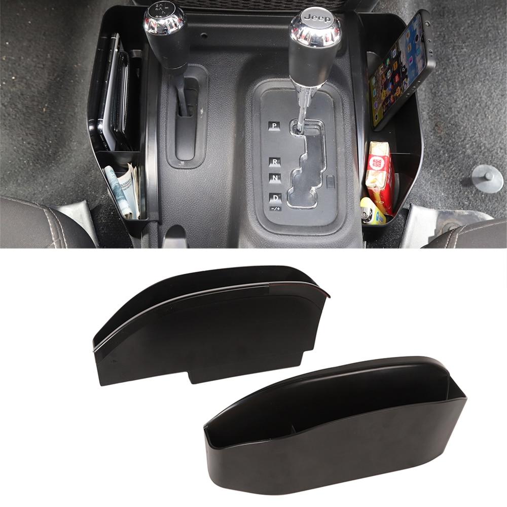 for Jeep Wrangler JK 2011 2017 Gear Storage Box Organizer/Side Pocket Organizer ABS Black Car Styling Car Interior Accessories