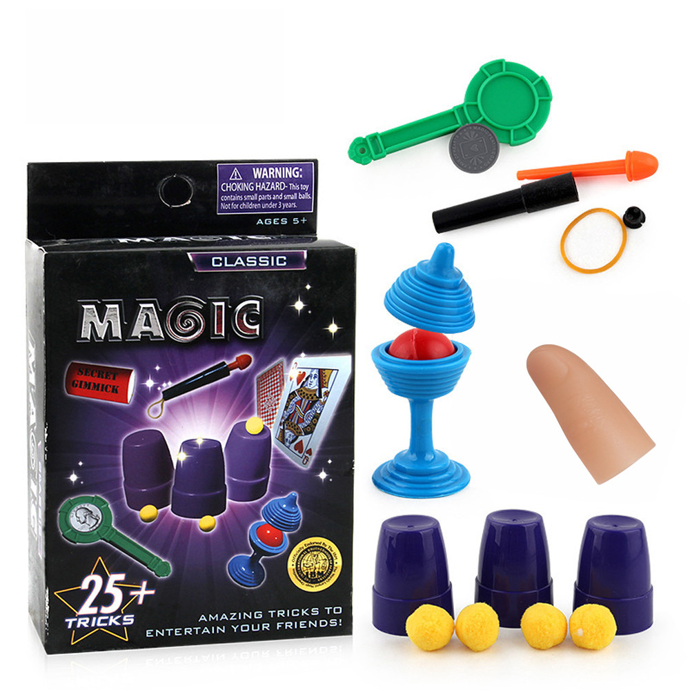 Magic Toys Magic Classic Vanishing Ball And Vase Party Magic Trick Set Magic Props Show Funny Toys For Children L113