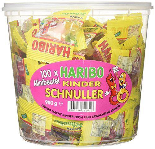 Haribo Kinder Schnuller 100 Minibeutel, 1er Pack (1 X 980 G Dose)