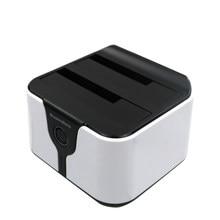1tb velocidades de leitura dupla baía hdd sata docking station usb 3.0 disco rígido externo caso de alta qualidade hdd 2.5 alumínio caixa doca