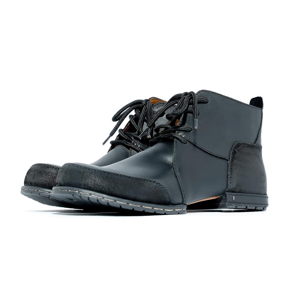 OTTO Top qualité bottes à la main rivet bottes d'hiver avec fourrure véritable cuir de vache chaussures de mode pour hommes livraison rapide gratuite-in Bottes de motocyclisme from Chaussures    1