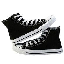 Zapatos de lona con estampado personalizado para hombre y mujer, calzado informal de tacón alto con cordones, para primavera