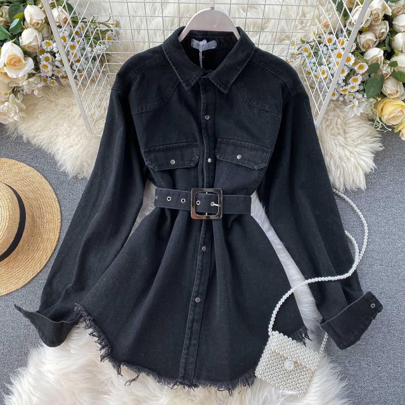 ジーンズコートデニムジャケット韓国ヴィンテージシャツトップス春秋のジャケット女性服 2020 チャケータ Mujer ファム ZT5316