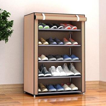 Multi-layer Simple Shoe Cabinet DIY Assembled Space-saving Shoe Organizer Shelf Home Dorm Storage Closet Dustproof Shoes Rack 2