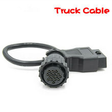 High quality For Scania 16Pin Female Truck Connector For TCS CDP Truck Sets  SCANIA 16 Pin to OBDII 16Pin Female Extension Cable цена и фото