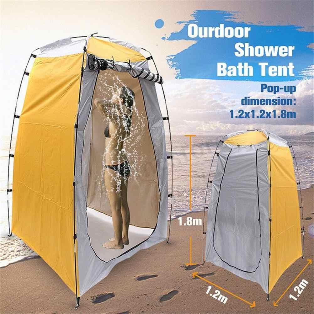 Taşınabilir gizlilik duş çadırı yeni Ultralight çadır çıkarılabilir soyunma çadırı için açık havada plaj kamp seyahat banyo çadırı