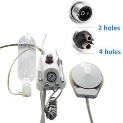 Kleine zahn ausrüstung tragbare dental unit mit flasche verbinden mit hoher geschwindigkeit niedriger geschwindigkeit handstücke einfach tragen