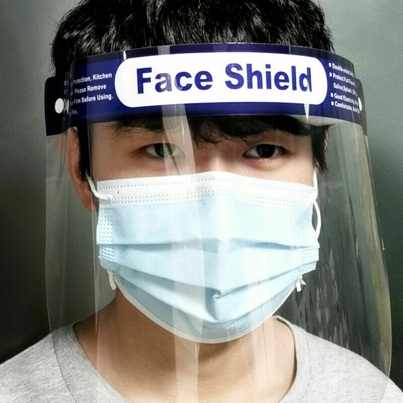 New Arrival Men Women Face Shield Plastic Anti Droplet Dust-proof Protect Covering Anti-Fog Shield Face Cover Anti Splash Masks