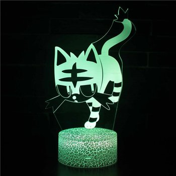Cat Series 3D Stereo Vision Lamp Acrylic 7 Colors Changing USB Bedroom Bedside Night Light Desk Lamp Best Gifts цена 2017