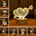 Подарок на день Святого Валентина, 3D лампа, пасхальное украшение, акриловый светодиодный ночсветильник для детей, медведь, подарок на день С...