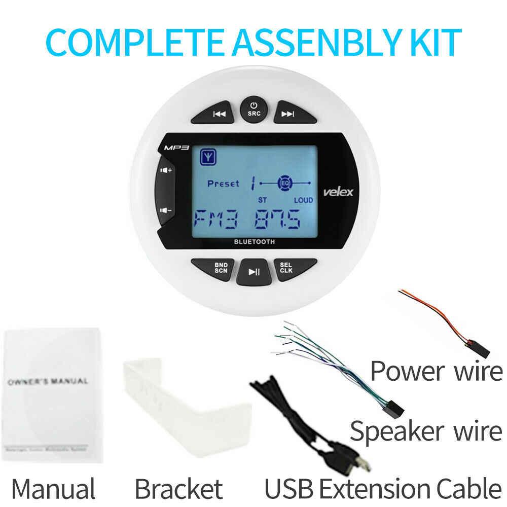 防水マリン Bluetooth ステレオボートラジオデジタルメディアオーディオ FM AM 車 MP3 プレーヤー USB Atv UTV スパオートバイヨット