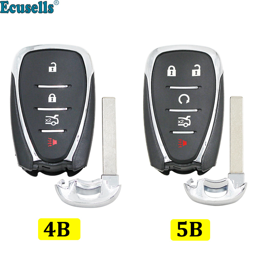 4/5 Button Smart Remote Key Shell Case FOB for <font><b>Chevrolet</b></font> Malibu Cruze <font><b>Spark</b></font> Cmaro 2016 <font><b>2017</b></font> 2018 with insert key image