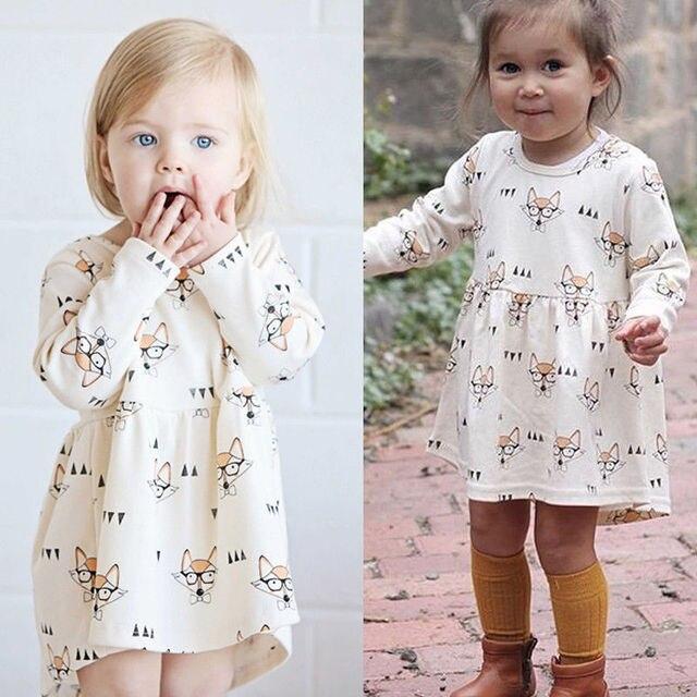 Pudcoco fille robe 3M-4Y mignon infantile bébé filles robe princesse lunettes décontracté robes de soirée robe dété