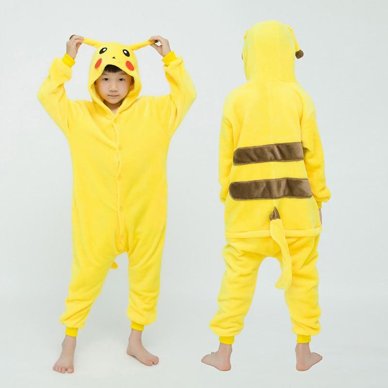 Girls Boys Winter Long Sleeve Onesie Pajamas Unicorn Cartoon Koala Animal Onesies Kids Flannel Jumpsuit Children Pajamas 1