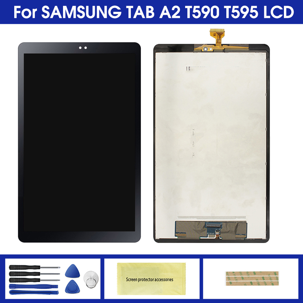 Для Samsung Galaxy Tab A2 T590 T595 SM-T595 SM-T590 ЖК-дисплей панель экран монитор сенсорный экран полная сборка Замена