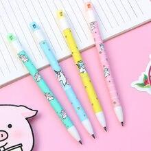 4 Pcs/lot 2.0mm licorne crayon mécanique + taille-crayon étudiant crayon automatique stylo pour enfant école fournitures de bureau