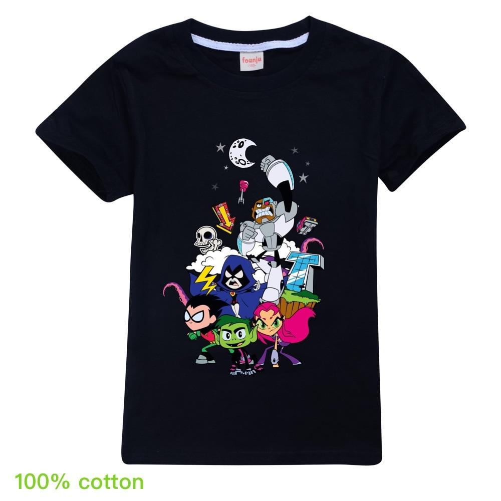 Летняя футболка с мультипликационным принтом для подростков, футболка для маленьких мальчиков, детские летние футболки для мальчиков, одеж...