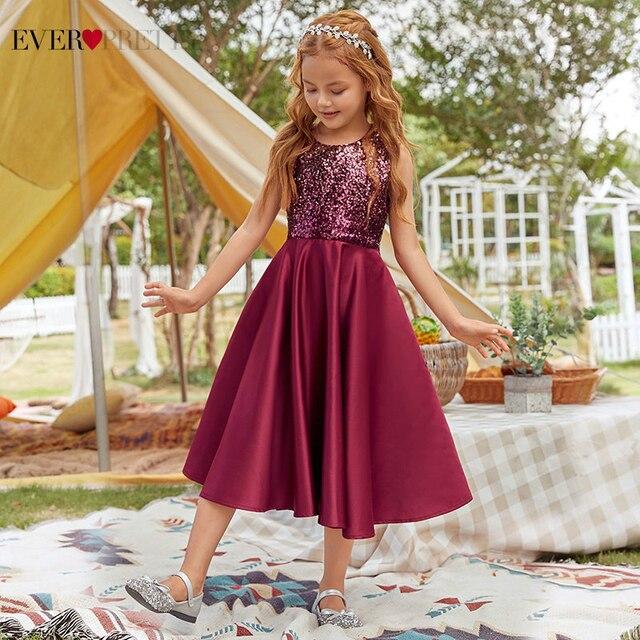 Фото платье для девочек; красивое высококачественное бордовое праздничное
