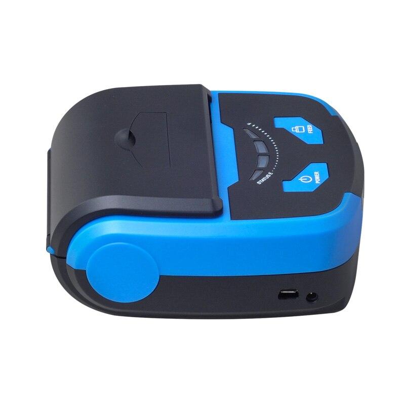 Tragbare 80mm Bluetooth Thermische Drucker Unterstützung Android POS Multi-sprache MAX 70mm/sec low noise, hohe geschwindigkeit druck