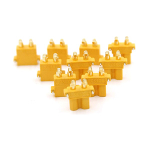 Image 3 - 100 x AMASS XT30PW Banana golden XT30 Upgrade Right Angle Plug Connector male female ESC Motor PCB board plug connect (50 Pair )