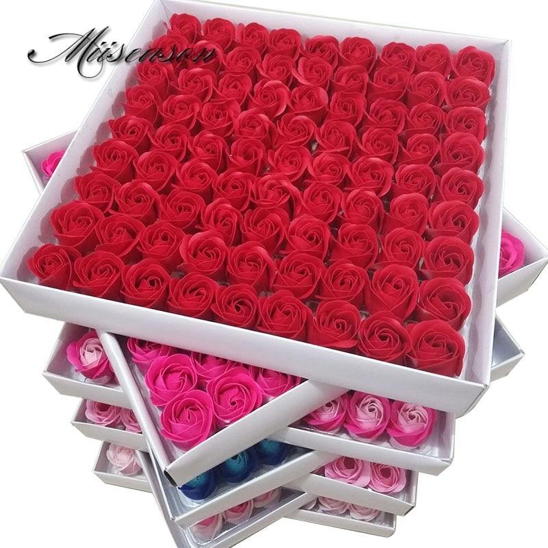81 Teile/los Rose Bad Körper Blume Floral Seife Duftenden Rose Blume Ätherisches Hochzeit Valentinstag Geschenk blumen Halten