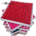 81Pcs/lot Rose Bath Body Flower Floral Soap Scented Rose Flower Essential Wedding Valentine'S Day Gift Holding flowers