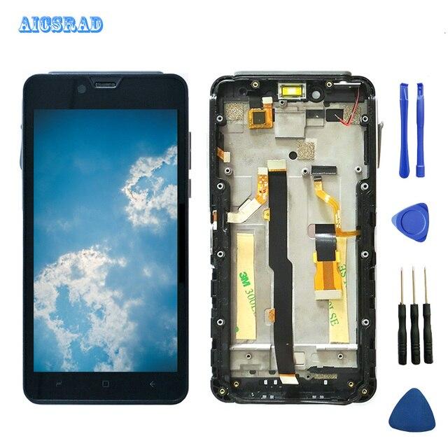 Aicsrad elephone 兵士液晶ディスプレイ + タッチスクリーンデジタイザガラスパネルアセンブリ elephone 兵士 2560*1440 携帯電話