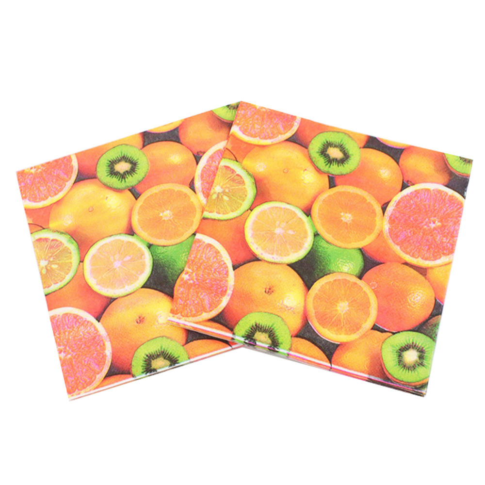 [Currently Available] New Products Listed Fruit Series Napkin Color Printed Napkin Tissue RUFT-09