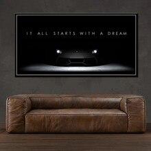Декор для дома плакат модульные картины настенное искусство HD вдохновляющие успехи Цитата мотивационный скандинавский стиль Картина на хо...