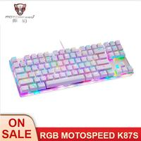 MOTOSPEED K87S Mechanical Keyboard Gaming Keyboard USB Wired Gaming Keyboard Customized LED RGB Backlit with 87 Keys for lol cf