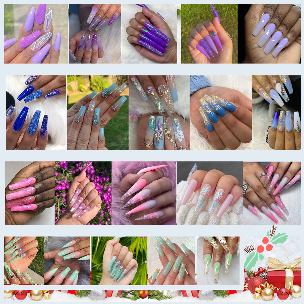 Набор для наращивания ногтей makartt пурпурный гель 15 мл прозрачный