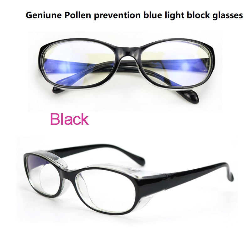 Grey Anti UV Protective Glasses Blue Light Blocking Safety Glasses For Women Dustproof Anti Pollen Safety Goggles With Side Shields Anti Fog Safety Glasses