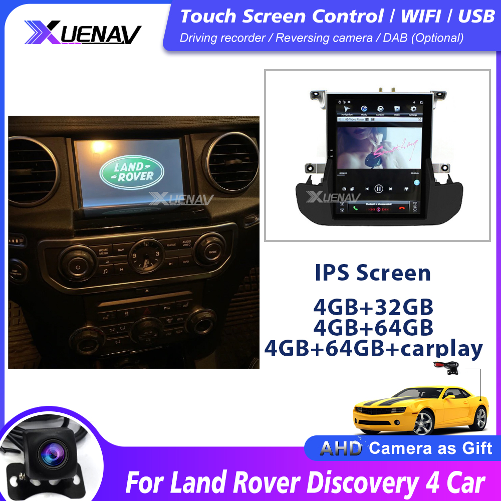 Автомагнитола 2 Din на Android для Land Rover Discovery 4 Car 2009 2010 2011 2012 2013 2014 2015 2016 GPS-навигация