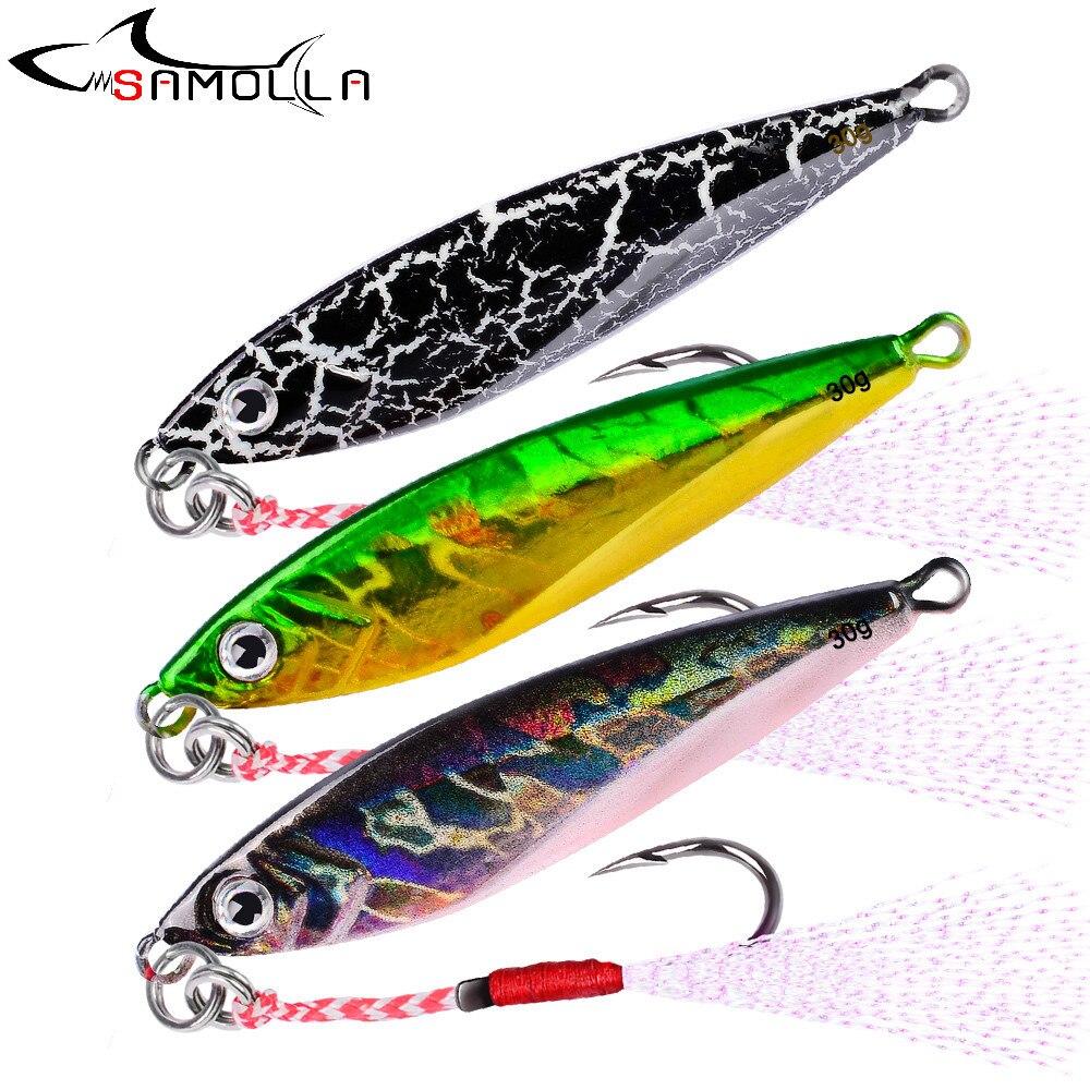 Metal Fishing Lure Jig Bass Fishing Tackle Lead Fish Weights 21g/6.5cm  Jigging Lures Fake Fish Bait Slow Jig Saltwater Lures
